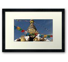 Nepal stupa Framed Print