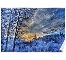 Cariboo Sunrise Poster