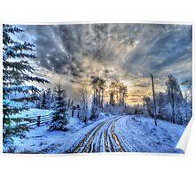 Cariboo Sunrise II Poster