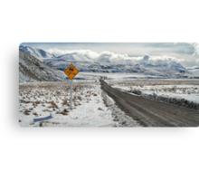 Majestic Peaks via a Tricky Road Canvas Print