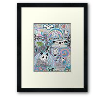Animal doodles Framed Print