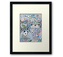 Animal doodles Framed Print