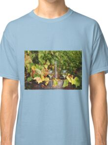 white wine autumn scene Classic T-Shirt