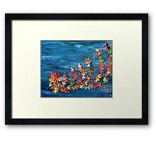 Puzzling wave Framed Print