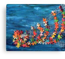 Puzzling wave Canvas Print