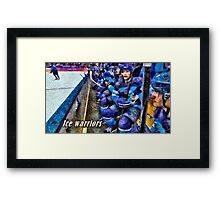 Ice warriors Framed Print