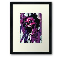 Cool Wicked Skull With Paint Splatters T Shirt Framed Print