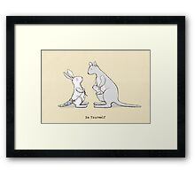 Be yourself Framed Print