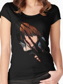 Light Yagami Women's Fitted Scoop T-Shirt