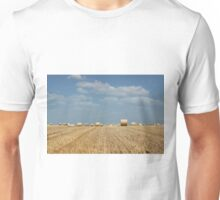 agriculture field with straw bale Unisex T-Shirt