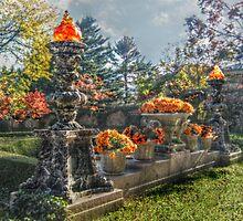 The Autumn Gardens At Kykuit, Sleepy Hollow, NY by Jane Neill-Hancock