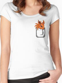 Kyuubi Pocket Women's Fitted Scoop T-Shirt