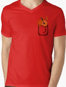 Kyuubi Pocket Mens V-Neck T-Shirt