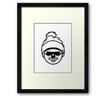 cool sunglasses hip hop Hare mouse Hat Framed Print