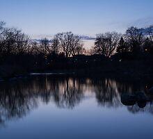 Lake Ontario Blue Hour Infused With Purple by Georgia Mizuleva