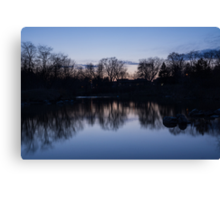 Lake Ontario Blue Hour Infused With Purple Canvas Print