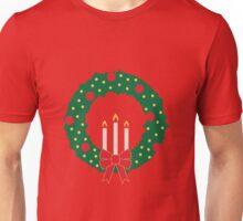 Holiday Wreath Illustration Unisex T-Shirt