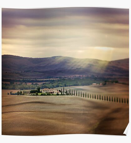 Sunrise in Tuscany Poster