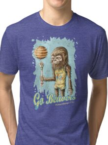 Go Beavers! (full colour) Tri-blend T-Shirt