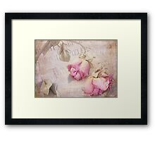 Pink roses Framed Print