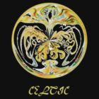 Zoomorphic Celtic Art No3 T-shirt design by Dennis Melling