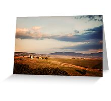 Before the Sunset (Tuscany) Greeting Card