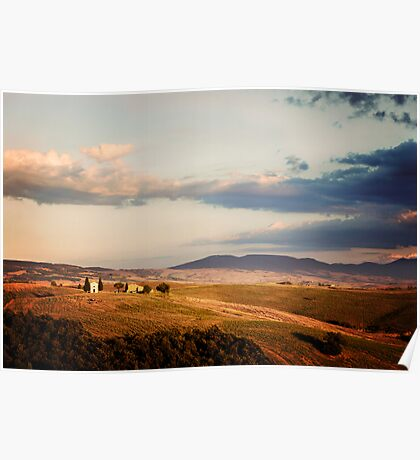 Before the Sunset (Tuscany) Poster