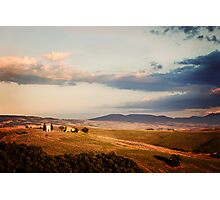 Before the Sunset (Tuscany) Photographic Print