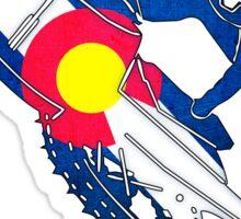 Colorado flag grunge stunt snowmobiler Sticker
