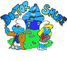 Doctor Who & Rose Tyler Smurf by Skree