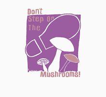 Don't Step On The Mushrooms - pink on purple Unisex T-Shirt
