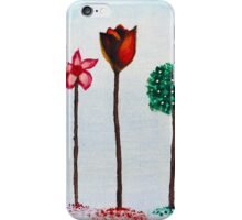 Flowers - Acrylic Painting on Canvass iPhone Case/Skin