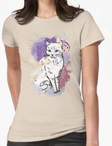 Cute Sitting Cat Womens Fitted T-Shirt