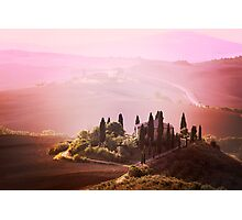 Foggy Tuscany Photographic Print