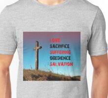 The Road to Salvation through Jesus Christ and the Cross Unisex T-Shirt