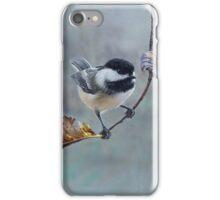 Raindrops - Chickadee in the Rain iPhone Case/Skin
