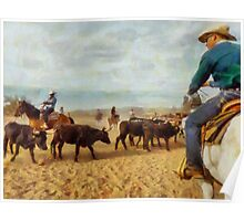 Cattle Penning at White Stallion Ranch Poster