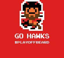 GO 'HAWKS! 8-bit Playoff Beard! Unisex T-Shirt