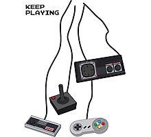 Keep Playing Retro Games Photographic Print