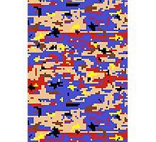 8-bit Digital Camo (Mario) Photographic Print