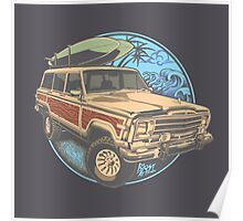 Surf Jeep Poster