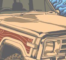Surf Jeep Sticker