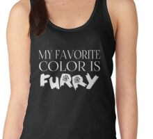 My Favorite Color Is... (Furry) in White Women's Tank Top