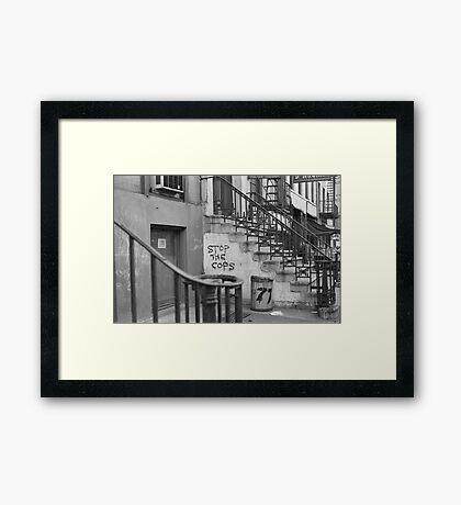 Stop the Cops, East Village 1968 Framed Print
