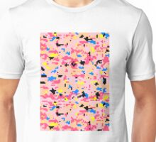 8-bit Digital Camo (Peach) Unisex T-Shirt