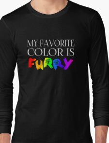 My Favorite Color Is... (Furry) in Rainbow Long Sleeve T-Shirt