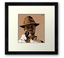 In the yellow hat Framed Print