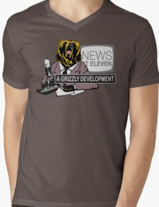 A Grizzly Development Mens V-Neck T-Shirt
