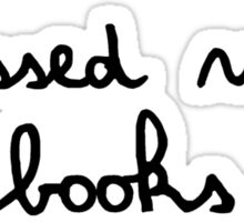 obsessed with books Sticker