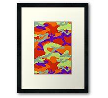 8-bit Woodland Camo (Samus) Framed Print